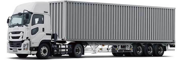 ギガトラクタ+海上コンテナトレーラ…ザ・トラック